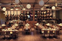 City Winery Chicago We can't say enough about the tasty vinos being poured at City Winery, where the wine is made onsite from vineyards around the world. The facility can accommodate more traditional-size wedding celebrations (around 15 Illinois Wedding Venues, Chicago Wedding Venues, Luxury Wedding Venues, Beautiful Wedding Venues, Wedding Trends, Perfect Wedding, Wedding Ideas, Wedding Reception, Reception Ideas