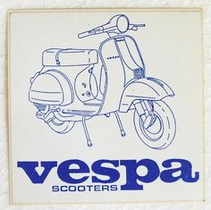 Vespa scooter original 80's vinyl sticker Vespa P-Series PX P200 NOS promo item