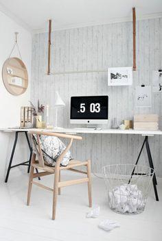schreibtisch selber bauen diy ideen weie holzplatte schwarze metallene beine - Herman Miller Schreibtisch Veranstalter