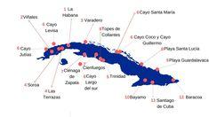 Viajar a Cuba Cienfuegos, Varadero, Santa Lucia, Havana Cuba, America, Map Cuba, Cayo Santa Maria, Decks, Vacations