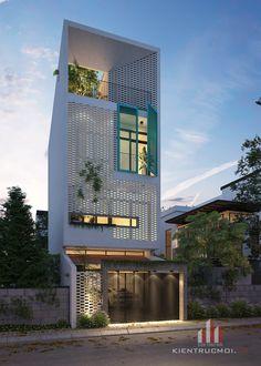 ideas home design contemporary loft for 2019 Modern Small House Design, House Front Design, House Architecture Styles, Facade Architecture, Facade Design, Exterior Design, Townhouse Exterior, Townhouse Designs, Narrow House