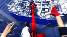 In Mirror's Edge, the highlighted path was red not directly telling the player the route.