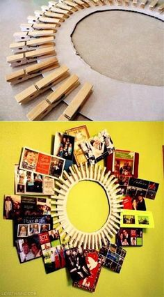 An amazing way to up-cycle your old cardboard and clips to a new art piece.