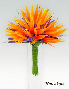I dont want this for the wedding but this is pretty cool- Hawaiian Tropical Wedding Bouquet