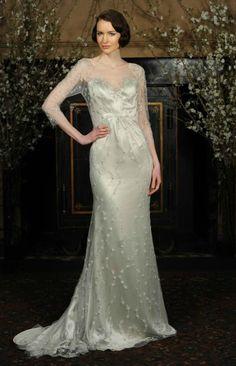 Half- Sleeve Wedding Dress for Older Brides Over 40, 50, 60, 70. Second Wedding Dress Ideas.