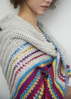 FREE shawl pattern. Stash buster! Absolutely beautiful