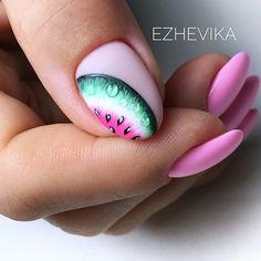 Nails pink art summer Ideas for 2019 Nails Pink Art Sommer Ideen für 2019 Manicure, Diy Nails, Nail Art Fruit, Watermelon Nails, Nailart, Gel Nagel Design, Trendy Nail Art, Diy Nail Designs, Super Nails