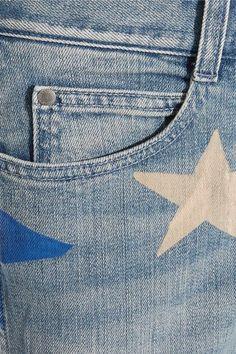 Stella McCartney - Printed Mid-rise Straight-leg Jeans - Blue - 31