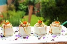 Huevos rellenos de atún ¡cuadrados! Sorprende con tus aperitivos