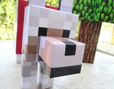 Minecraft Wolf Dog Party Decoration Table by GoDecorations