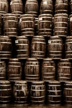 A stack of wine barrels Barris, Brown Eyed Girls, French Wine, Wine Cheese, Brown Aesthetic, Wine Tasting, Chocolate Brown, Whisky, Earthy