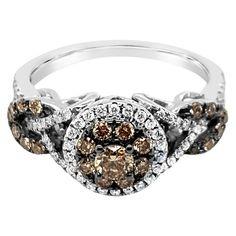 Chocolate Diamond Wedding Rings, Chocolate Rings, Halo Diamond Engagement Ring, Engagement Rings, Jewlery, Jewelry Box, Le Vian, Mom Daughter, Fashion Bracelets