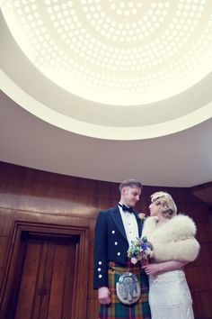 Beautiful modern-day 1930 inspired marcel waves, from 'The Glamour of the 1920s and 1930s for an Elegant, Art Deco Inspired Wedding at Eltham Palace' on www.lovemydress.net // Photography by http://www.annamariestepney.co.uk/