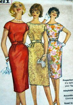 Lovely Vtg 1960s Dress Sewing Pattern 14 34, simplicity 3461 Vintage Patterns, Sewing Patterns, Vintage Sewing, Short Kimono, Wiggle Dress, Fitted Bodice, Vintage Dresses, Two Piece Skirt Set, Dress Sewing