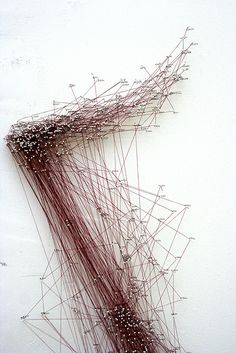 Katie Lewis - Detail 3 |Thread, pencil and pins