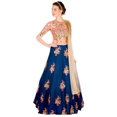 Stay fashionable & trendy with sheer love by picking this designer lehenga