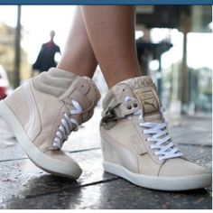 PUMA Sky Wedges rock the streets #PUMA #skywedge #sneakers
