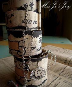 Upcycled Pringles's tube to rotating layered storage box    #Craft, #DIY, #Recycled