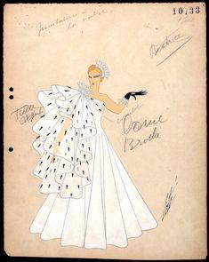 Costume Sketch, 'La Valse Noble' (The Noble Waltz) from Invitation à la Valse (Invitation to the Valse) Erté (Romain de Tirtoff) (Russia, active France and United States, 1892-1990) France, Paris, circa 1934