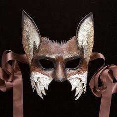 A half mask of Vulpus, the fox. Makeup At Home, Masquerade Party, Masquerade Masks, Mascarade Mask, The Frankenstein, Fox Mask, Venetian Masks, Venetian Masquerade, Half Mask