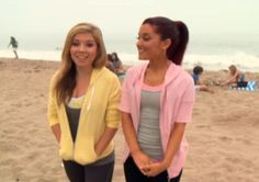with Jennette McCurdy -- Worldwide Day of Play Ariana Grande Cat, Ariana Grande Dangerous Woman, Dangerous Woman Tour, Ariana Grande Photos, Sam E Cat, Jenette Mccurdy, Pink Workout, Icarly, Cat Valentine