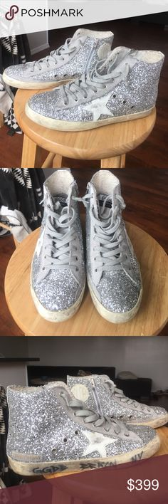 Golden Goose Hightop Glitter Shoes Size 39 Please text me if interested. 8137514031. Gently used sneakers. Golden Goose Hightop Glitter Shoes Size 39 Golden Goose Shoes Sneakers