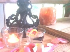 puja is a small ritual of devotion. Red Sheets, Vintage Witch, Meditation Space, Witch Aesthetic, Altars, Crystal Grid, Feng Shui, Awakening, Palette