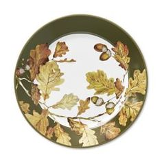 Botanical Acorn Rim Dinner Plates Set of 4  sc 1 st  Pinterest & Acorn Dinnerware Collection | Tabletop (china u0026 glass) Samples ...