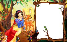 Snow White with Doe Transparent Kid Frame