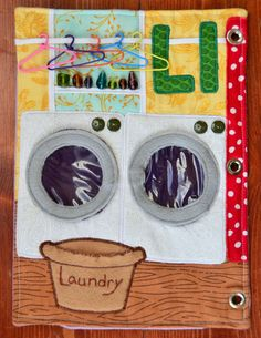 The Adventures of Six Hobbits: Alphabet Quiet Book: L is for Laundry