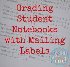 Idea for quick notebook grading -Kovescence of the Mind: Grading Student Notebooks with Mailing Labels Social Studies Classroom, Science Classroom, Science Notebooks, Interactive Notebooks, Reading Notebooks, Classroom Organization, Classroom Management, Classroom Ideas, Classroom Procedures