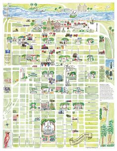 Without a doubt the most beautiful map you can use to tour Savannah with the girls, The Savannah Historic District Map. Be sure to pick one up at the Visitor's Center on MLK. It makes a fantastic souvenir too!  We have one framed in our living room to remind us of our beloved city of Savannah!  #Savannah #NoBoysAllowed
