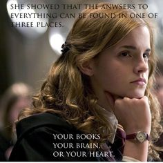 Hermione is such a lovely role model for girls
