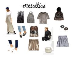 """Metallics"" by aloveforprettythings on Polyvore featuring moda, ASOS, River Island, Belgique, New Look y Fall2016"