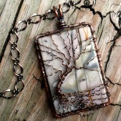 Extra Large Picasso Jasper Wire Wrapped Tree of Life Pendant   DesignsinCopper - Jewelry on ArtFire