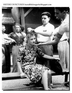 World war ii women heads shaved