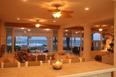 Kitchen to living area at Casa Tortuga.