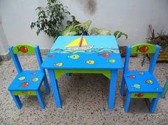 sillas pintadas de colores niños - Buscar con Google