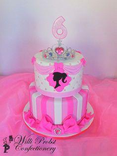 65 ideas birthday cake girls kids barbie for 2019 Birthday Cakes Girls Kids, Barbie Birthday Cake, Cupcake Birthday Cake, Themed Birthday Cakes, Themed Cakes, Princess Birthday, 7th Birthday, Barbie Cake Designs, Barbie Party Decorations