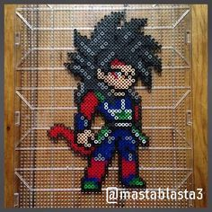 Bardock Super Saiyan 4 - Dragon Ball perler beads by mastablasta3