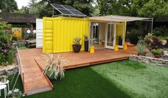 Tiny cargo container house is Sunset Idea House ...