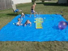 Cool DIY Splash Pad For Your Little Ones' Outdoor Swim Party | Kidsomania