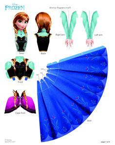 FROZEN Anna Papercraft !                          http://static.spoonful.com/sites/default/files/disney-frozen-anna-papercraft-craft-printable-0913.pdf