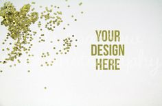 Check out Gold Confetti Styled Desktop Mock Up by LittleSparrowShop on Creative Market