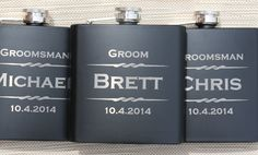 8 Personalized Flasks, Gifts For Groomsmen, Custom Engraved Liquor Flasks, Groomsman, Best Man, Hip Flask, Groomsmen Flask, Gift for Usher $104