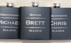 8 Personalized Flasks, Gifts For Groomsmen, Custom Engraved Liquor Flasks, Groomsman, Best Man, Hip Flask, Groomsmen Flask, Gift for Usher $104
