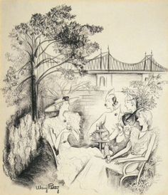 Illustration by Mary Petty. I love Mary Petty's delicate lines.