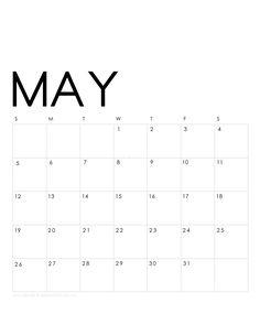 Printable May 2019 Calendar Monthly Planner 2 Designs: Flowers & Modern – Verwirrend – Dry Erase Calendar İdeas. Blank Calendar Pages, Free Monthly Calendar, Table Calendar, Calendar 2019 Printable, Excel Calendar, Blank Calendar Template, Diy Calendar, 2019 Calendar, Calendar Design