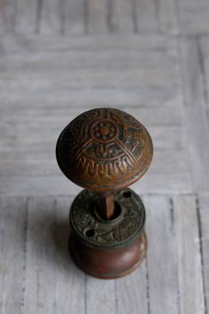 antique Victorian brass doorknobs