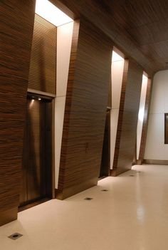 Double Layer Stretch Ceiling and Wall Systems @ Office Building Lobby Lobby Interior, Interior Lighting, Luxury Interior, Interior Architecture, Interior Design, Wall Lighting, Modern Interior, Elevator Lobby Design, Office Building Lobby